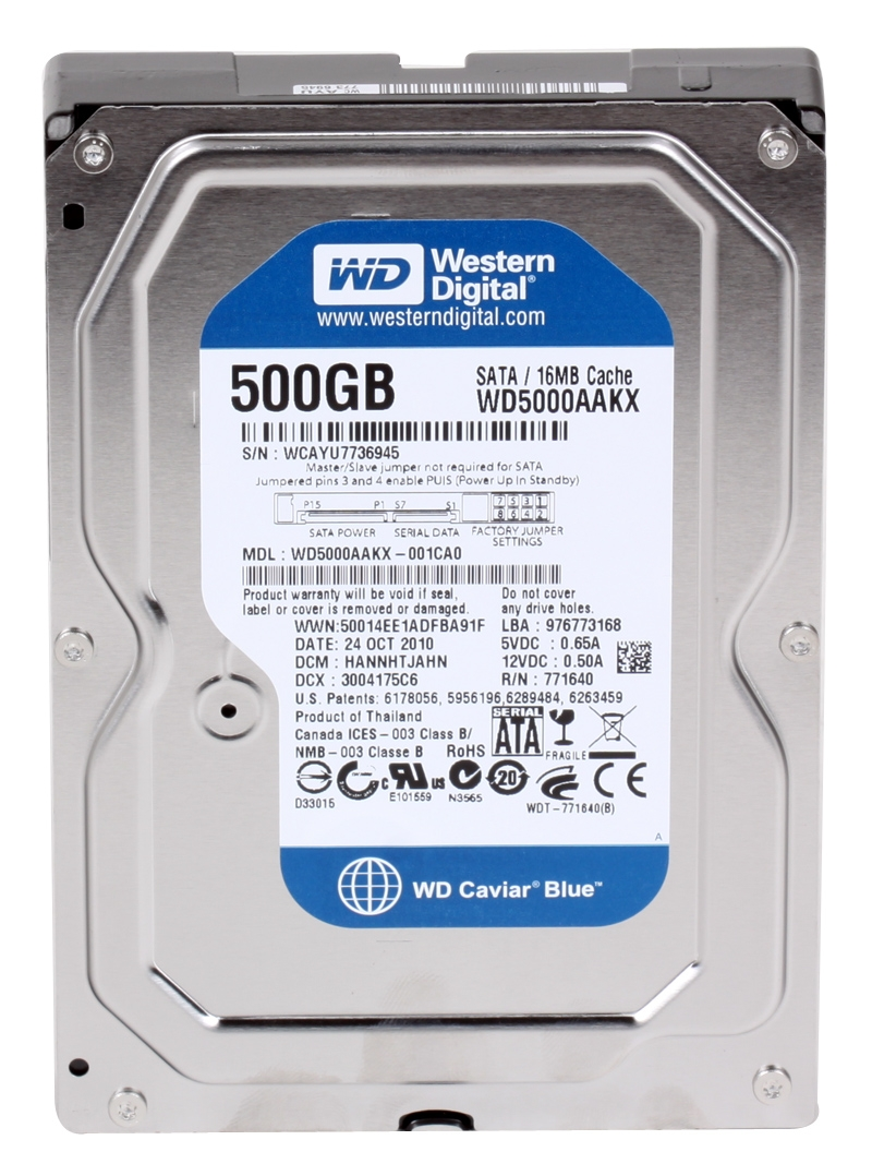 WESTERN DIGITAL DESKTOP INTERNAL 500GB BLUE SATA 3.5