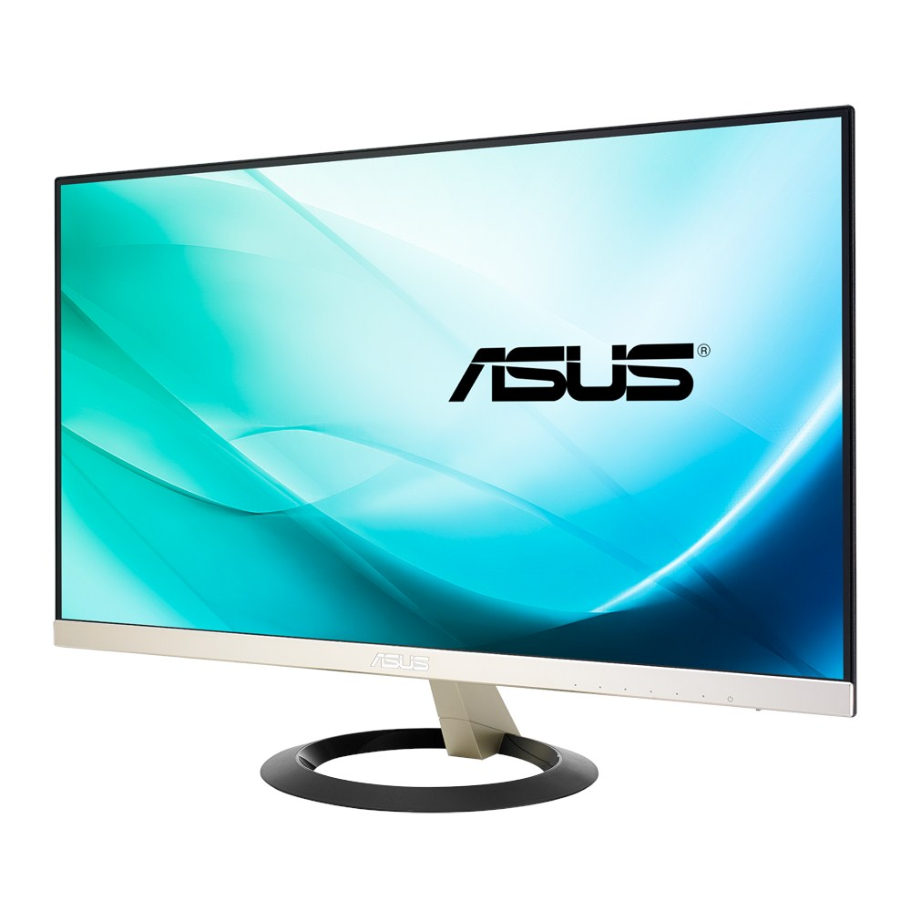 ASUS 24 INCH VZ249H-LED FRAMELESS IPS SCREEN LED MONITOR RES.1920 X 1080 FHD HDMI DVI VGA
